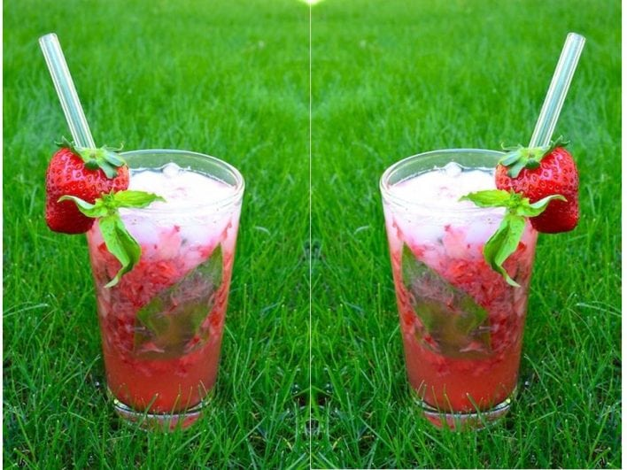 Strawberry- Coconut cooler